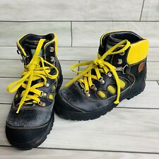 AKU Gore-Tex Hiking Boots Waterproof  Vibram Gray yellow Size 8-9.5 Italy EU 41
