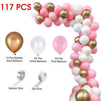 117pcs Latex Balloon Arch Kit Garland Wedding Baby Shower Birthday Party Decor