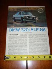 1977 BMW 320i ALPINA - ORIGINAL ARTICLE