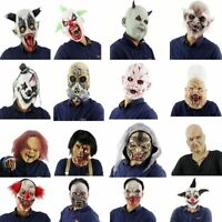 Halloween Scary Clowns Mask Latex Horrible Masquerade Party Horrifying Supplies
