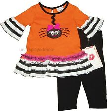 HALLOWEEN DRESS LEGGINGS 2 PIECE GIRLS OUTFIT UP COSTUME INFANT CHILDREN KIDS