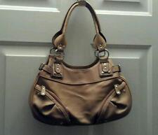 Camel Beige Tan Satchel Shoulder Handbag