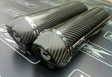 Yamaha XJR 1200 Pair of Carbon Round, Carbon Outlet, Exhausts Cans, Silencers.