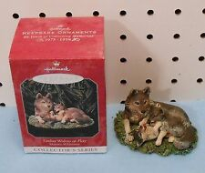 Hallmark Ornament - Timberwolves At Play - 1998 Collector Series