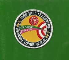 SCOUT BSA OA LODGE 257 AGAMING 1990 FALL FELLOWSHIP PATCH INDIANHEAD COUNCIL WWW