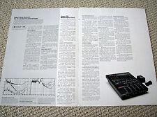 Fostex 160 multi-track cassette deck / mixer brochure
