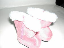 Pink Doll Clothes Boots Shoes for 18 inch American Girl Dolls