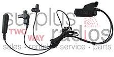 3 Wire Fbi Style Headset For Motorola Radios Ht1000 Mts2000 Xts3000 Xts5000 Mtx