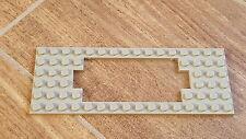 Vintage Lego Zug Bau Platte 6x16 alt hellgrau Chassis Waggonplatte (3058)