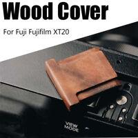 Wooden Wood Walnut Hot Shoe Cover Flash Mount For Fuji Fujifilm XT20 Camera  --