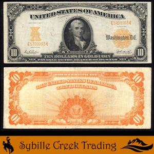 1907 $10 GOLD CERTIFICATE NOTE Fr 1171   E5799963