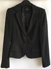 E-vie Collection Ladies Black Linen &Viscose Jacket/Blazer UK 10