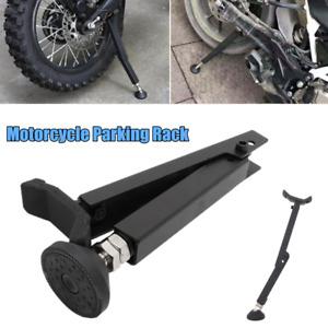 1×Motorcycle Bike Tyre Parking Rack Floor Support Repair Rack Steel Mount Holder