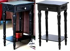 "BLACK PINE COLONIAL CARVED 28"" SIDE, END OR NIGHT TABLE w/ Drawer & Shelf ** NIB"