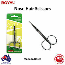 Nose Hair Remover Stainless Steel Scissors Trimmer Safety Clipper Made In Korea