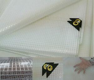 Clear Tarp 8 X 10 14 mil Clear Greenhouse Tarp, UV Resistant Fiber Reinforced