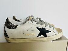 GOLDEN GOOSE Women Superstar Black star Sneakers * 37
