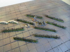 WargameTerrain  Barbed Wire, Sandbags 10pc painted flocked
