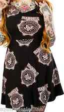 130065 Ramones Eagle Emblem Logo Bleach Print Dress Sourpuss Punk Rock Large L
