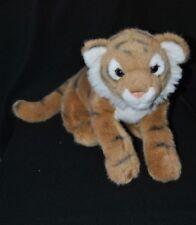 Peluche doudou tigre WWF ANNA CLUB PLUSH brun beige yeux durs 33 cm de long TTBE
