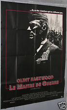 AFFICHE ANCIENNE CLINT EASTWOOD LE MAITRE DE GUERRE FILM ci 1986