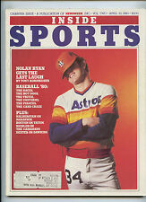 Inside Sports Magazine Charter Issue Nolan Ryan Astros 1980 Pete Maravich