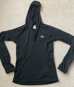 The North Face Women's 1/4 zip pullover hoodie VaporWick Black size small