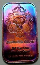 1 Oz .999 Silver Bar by Scottsdale Silver 999 Fine Silver,Toned,Rare, No Reserve