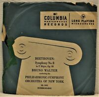 "BRUNO WALTER ""Beethoven Symphony No. 8"" 10"" LP Columbia ML2001"