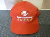 VINTAGE NFL SAN FRANCISCO 49ERS RED CAP NEW ERA PRO MODEL TEAM NFL