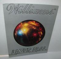Laser Ball Original Pinball Machine FLYER Original 1979 Williams Artwork Sheet