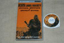 BLACK LABEL SOCIETY ** BOOZED, BROOZED & BROKEN BONED **  UMD MINI FOR PSP
