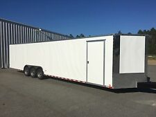 NEW 2017 8.5X34 V-NOSE TRIPLE AXLE ENCLOSED CARGO TRAILER CAR TOY HAULER 8.5X34