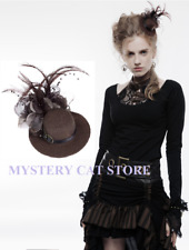 New Punk Rave Gothic Steampunk Accessory Small Brown Mini Hat Ws-044 Fast Post