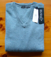 James Pringle 100% Lambswool pale blue XL men's jumper. Machine washable.