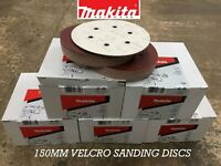 MAKITA 150MM SANDING DISCS BOX 50 *ALL GRITS* HOOK AND LOOP... PLEASE CHOOSE