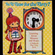 IS IT TIME FOR THE PARTY? ~ 1980's Hallmark Learning Children's PLAY TIME Book