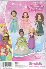 "Pattern Simplicity Sewing 18"" inch Doll Clothes fit Girl Disney Princess 2015 Ne"