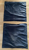 Set Of 2 Gray Euro Shams 25 X 25