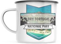 Dry Tortugas Florida National Park 12 OZ Enamel Mug Campfire Gift Mug  Souvenir