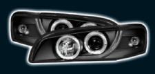 Black LED Halo Ring Projector Headlights For Subaru Impreza 97-00 Rhd Right