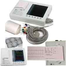 Color LCD 3-channel 12-lead Electrocardiograph ECG EKG Machine + interpretation