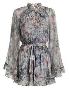 "Zimmermann ""Cavalier"" Floral Silk Georgette Romper Playsuit Size 1 8-10"