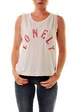 Wildfox Women's Lonely Barback Tank Top Glitter White Size XS RRP £54 BCF611