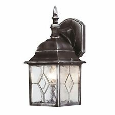 Outside Outdoor Traditional Leaded Effect Wall Security Lantern Light Fitting