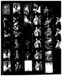 QUEEN Freddie Mercury Brian May 1970's Vintage Concert 8x10 Contact Sheet Photos