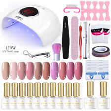 Born Pretty Kit Completo de Arte de uñas LED Lámpara Secador de Esmalte Gel UV juego de herramientas de uñas de la etiqueta engomada