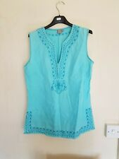 ladies torquoise blue sleeveless top by TU size 8