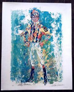 LeRoy Neiman 1970 Hand Signed 24x30 Poster Jockey BILL HARTACK #9/200