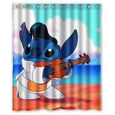 Lilo and Stitch Ohana Custom Waterproof Shower Curtain 60'' x 72''